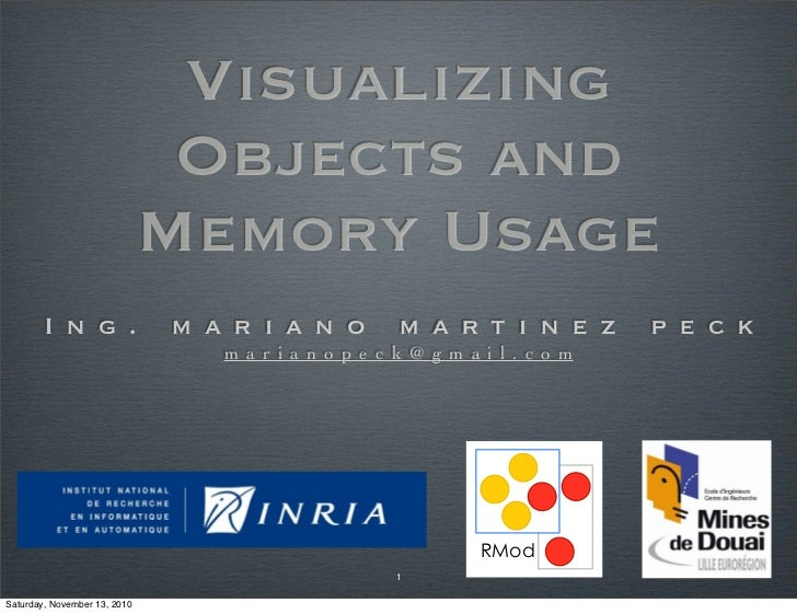 Visualizing                               Objects and                              Memory Usage        I n g .            ...