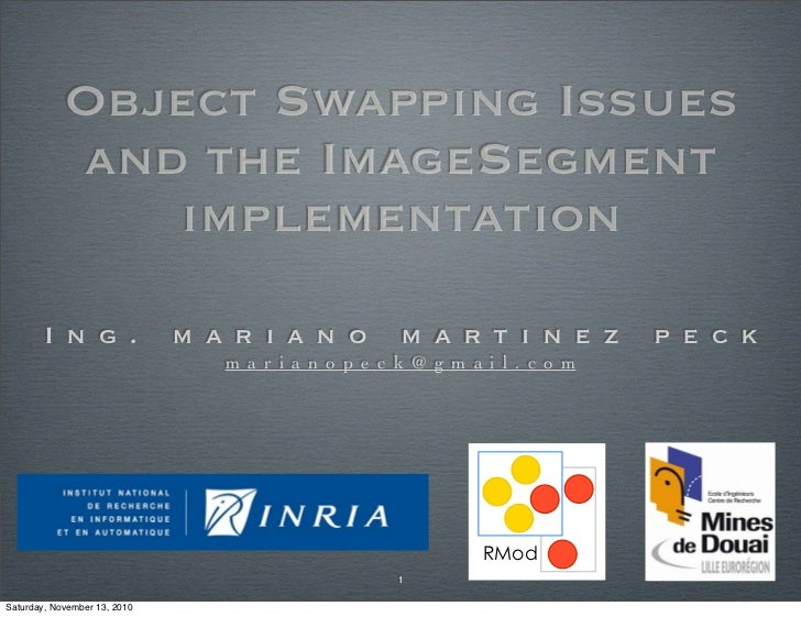 Object Swapping Issues             and the ImageSegment                implementation        I n g .               m a r i...