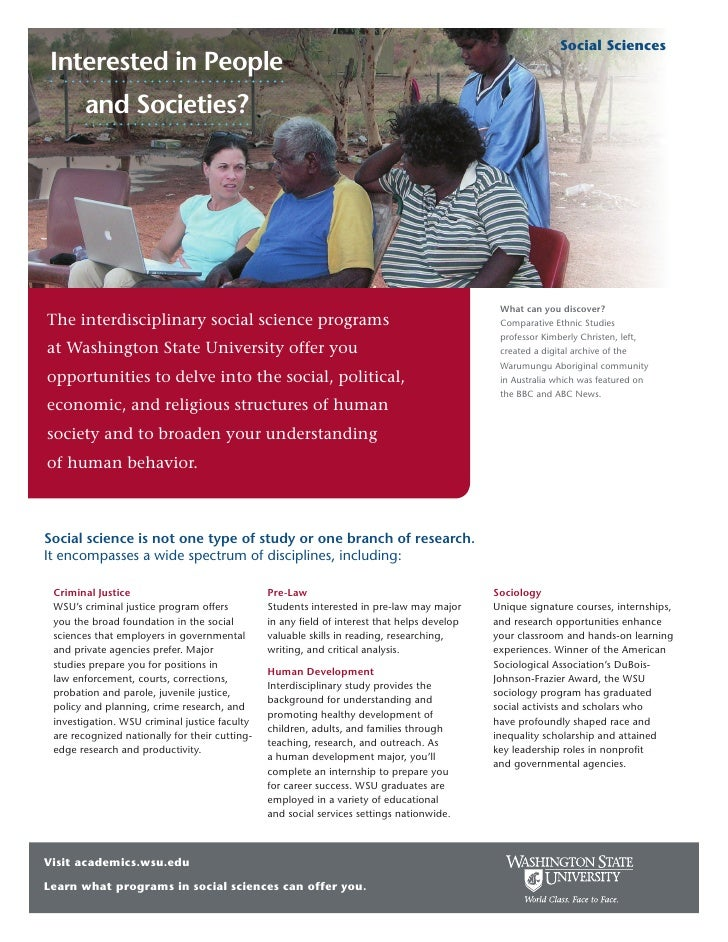 Social Sciences  Interested in People        and Societies?                                                               ...