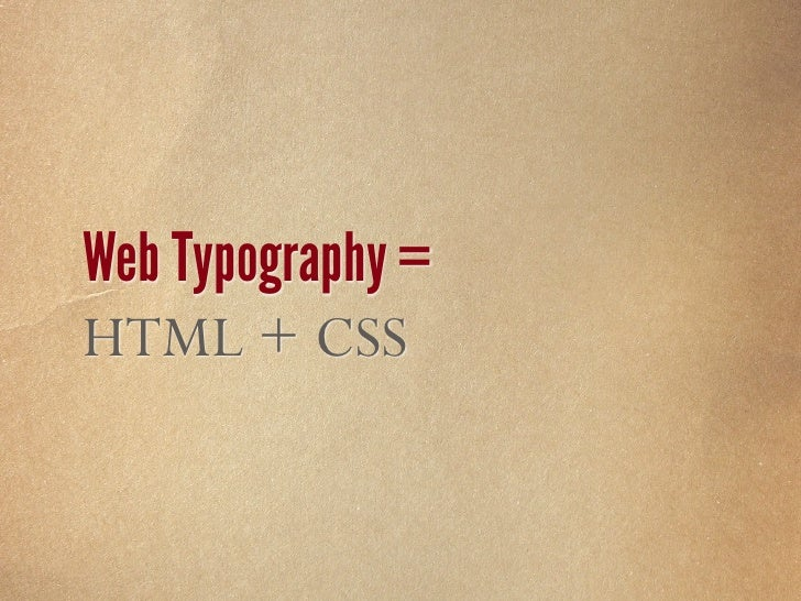 Web Typography = Limited Font Choices