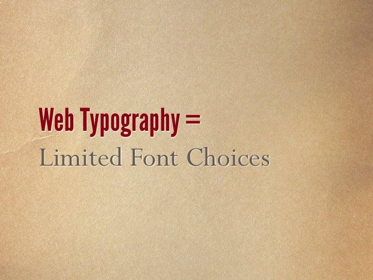 Web Typography = UGLY!!!!!