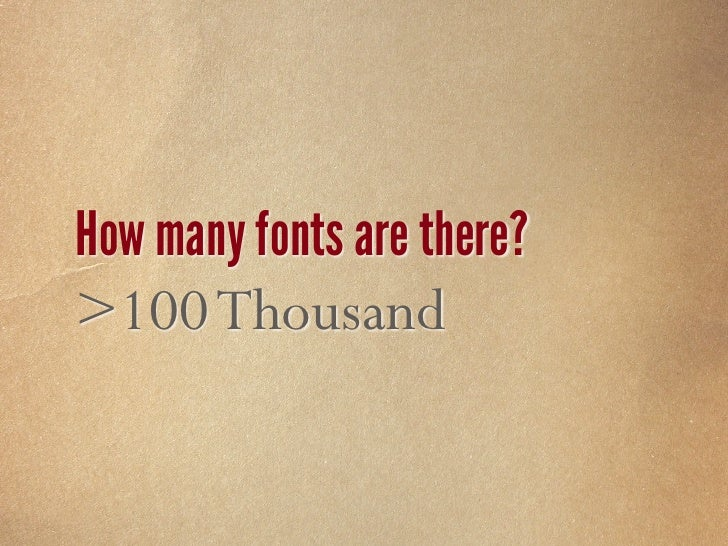 How many fonts are used on the Web? 5 Fonts
