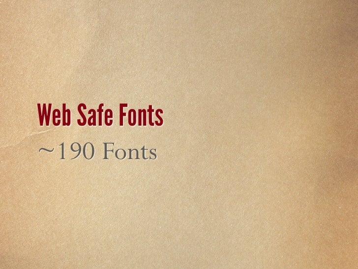 Web Safe Fonts Windows & Mac = 59 Fonts