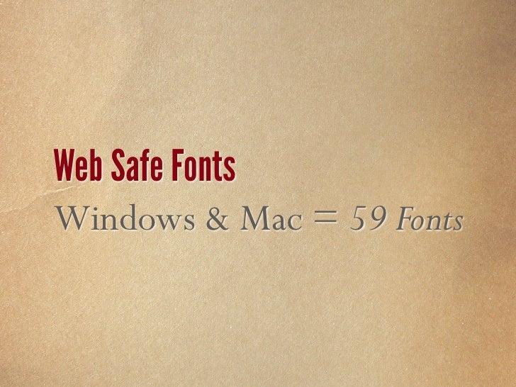 Websafe Fontsß 3                                                                 I      Font Name             Weight and S...