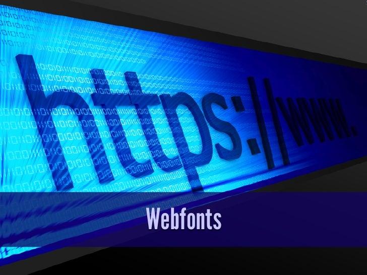 Webfonts