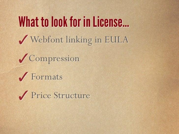 Licensed Fonts                      FontSquirrel            FontFont        FontSpring     Webfonts             560+      ...