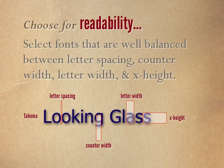 Choose for optimization… Select fonts that have been specifically optimized for screen viewing.