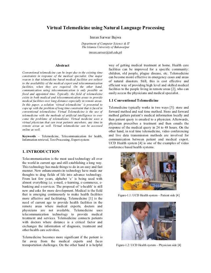 Virtual Telemedicine using Natural Language Processing                                                      Imran Sarwar B...