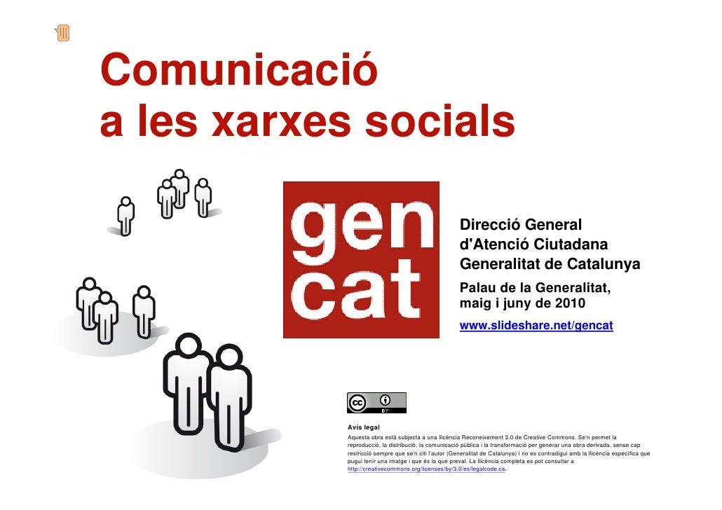 Comunicació     a les xarxes socials                                                            Sessió impartida per:     ...