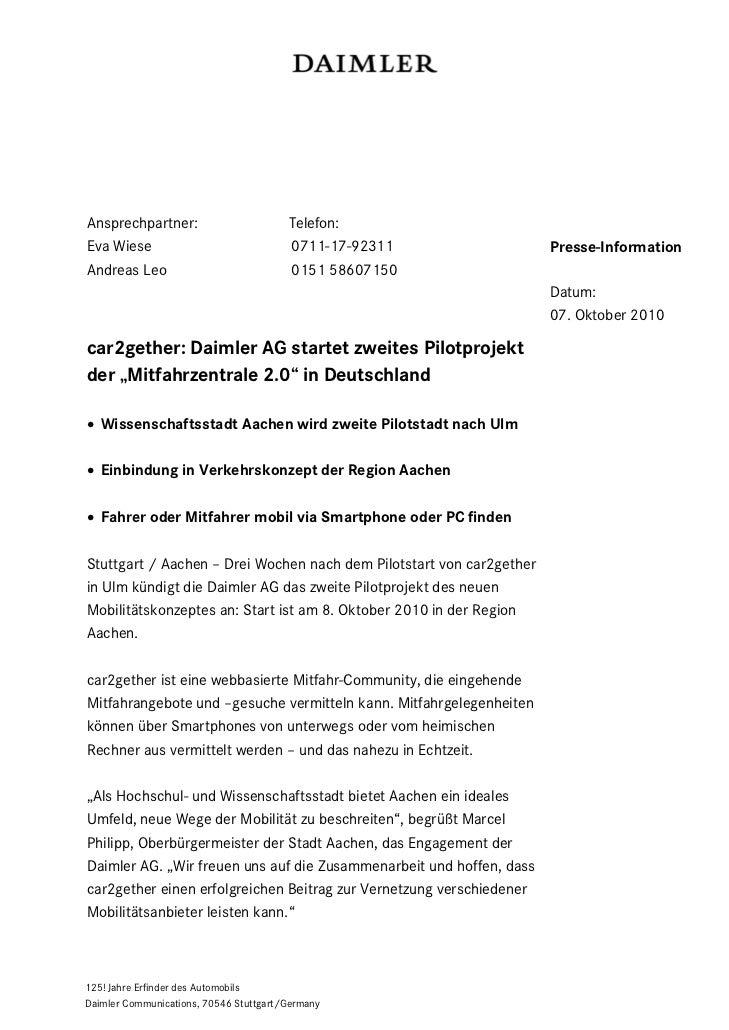 Ansprechpartner:                        Telefon:Eva Wiese                               0711-17-92311                 Pres...