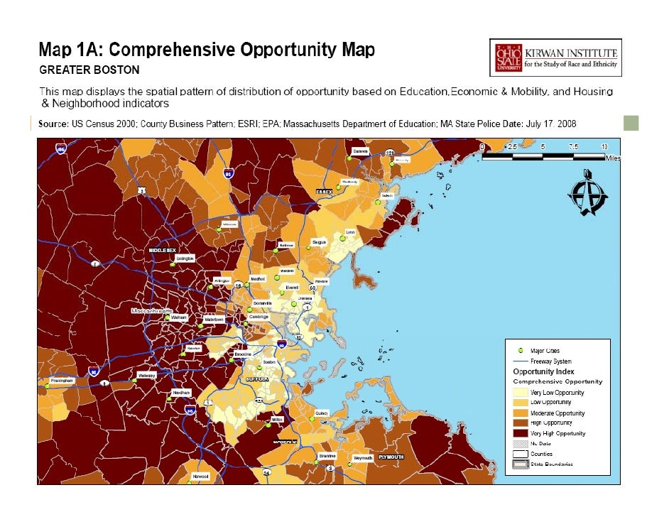 Comprehensive Opportunity Map Greater Boston - Us-map-boston-ma
