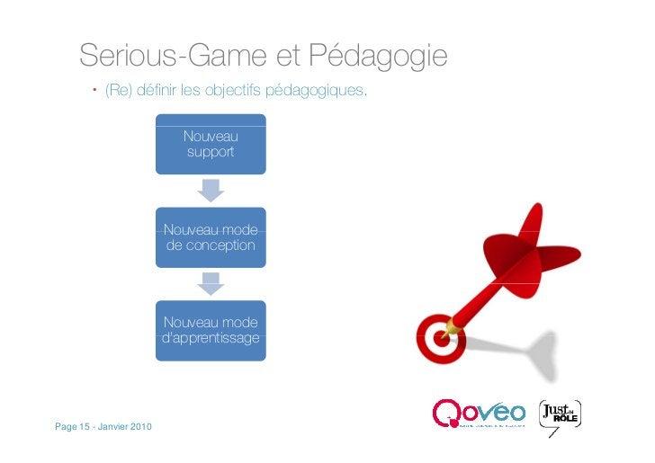Serious-Game et Pédagogie          (Re) définir les objectifs pédagogiques.                              Nouveau         ...