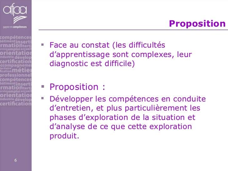 Proposition <ul><li>Face au constat (les difficultés d'apprentissage sont complexes, leur diagnostic est difficile) </li><...