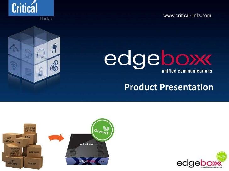Product Presentation<br />11.05.09<br />