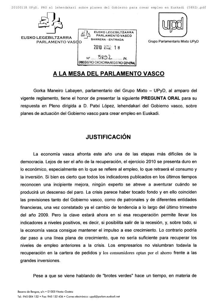 20100118 UPyD. PRO al lehendakari sobre planes del Gobierno para crear empleo en Euskadi (5892).pdf