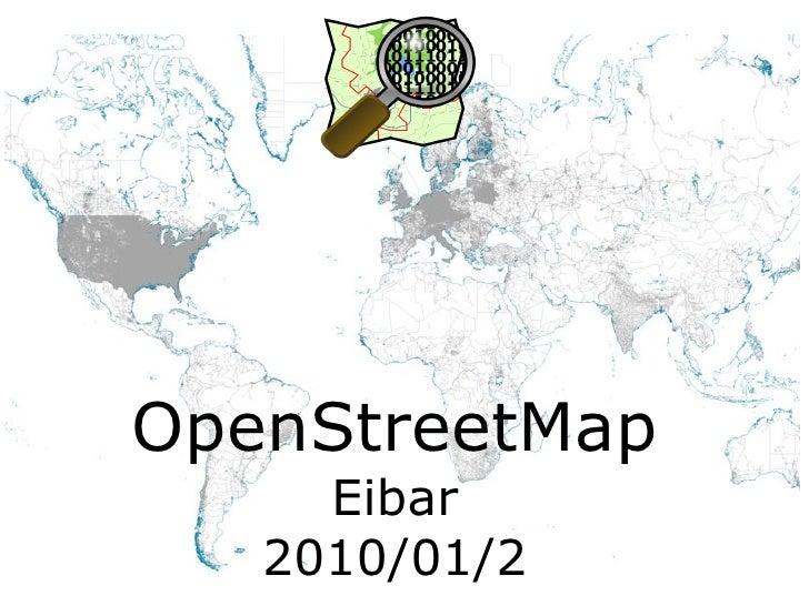 OpenStreetMap Eibar 2010/01/2