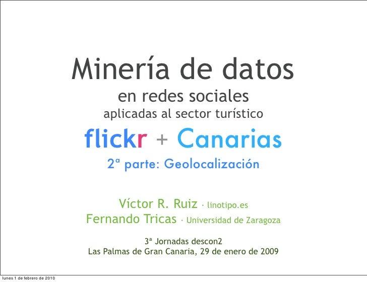 Minería de datos                                      en redes sociales                                  aplicadas al sect...