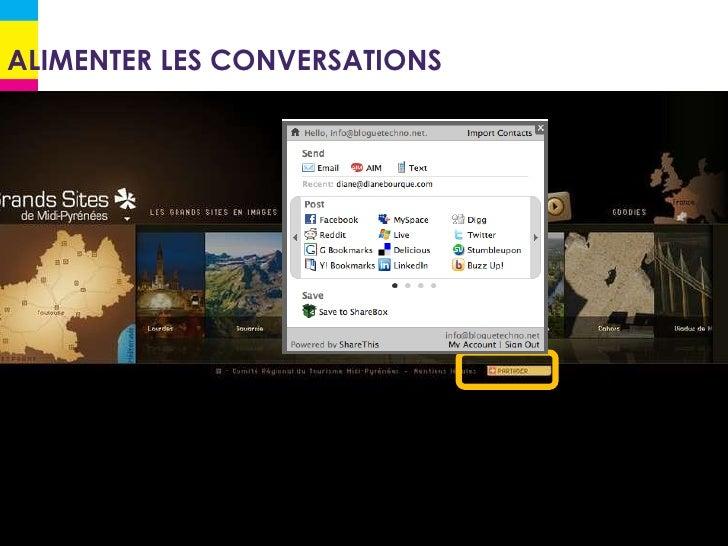ALIMENTER LES CONVERSATIONS