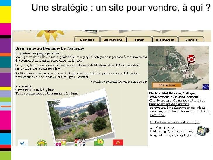Une stratégie : un site pour vendre, à qui ?