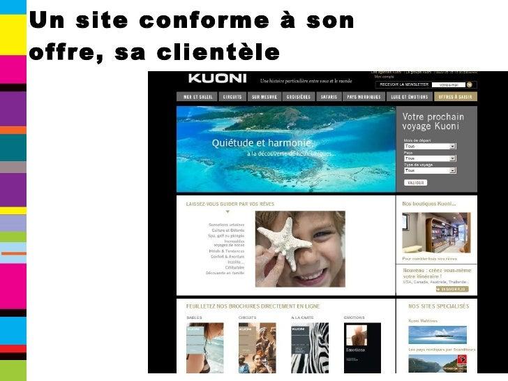 Un site conforme à son offre, sa clientèle