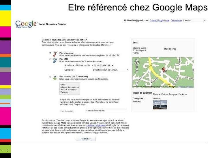 Etre référencé chez Google Maps