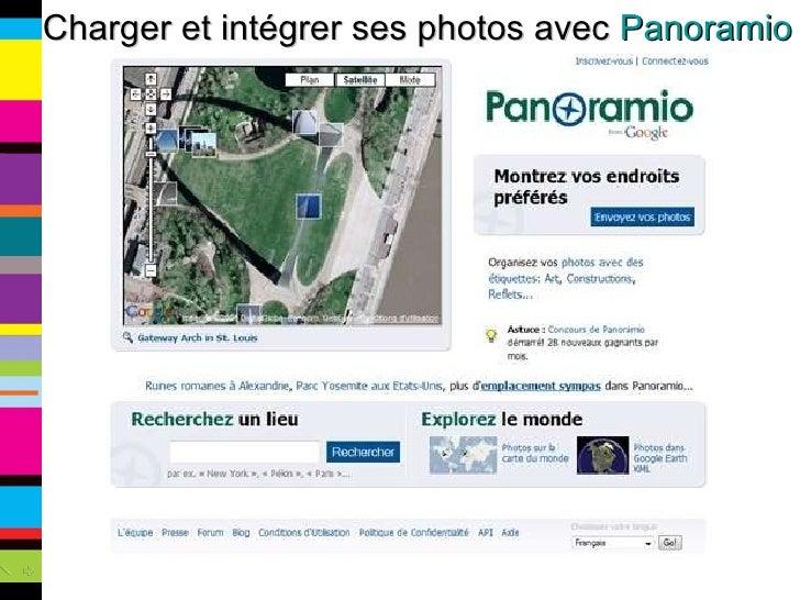 Charger et intégrer ses photos avec  Panoramio