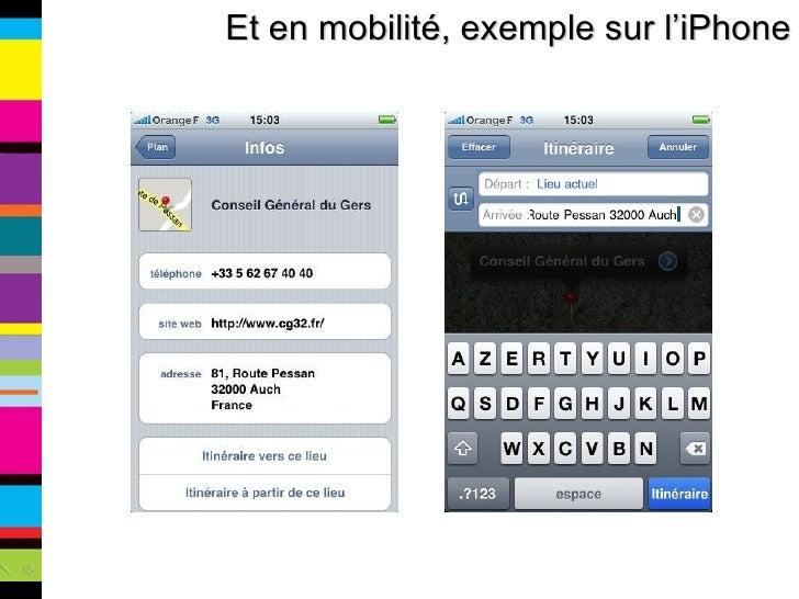 Et en mobilité, exemple sur l'iPhone