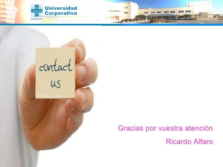 Gracias por vuestra atención Ricardo Alfaro