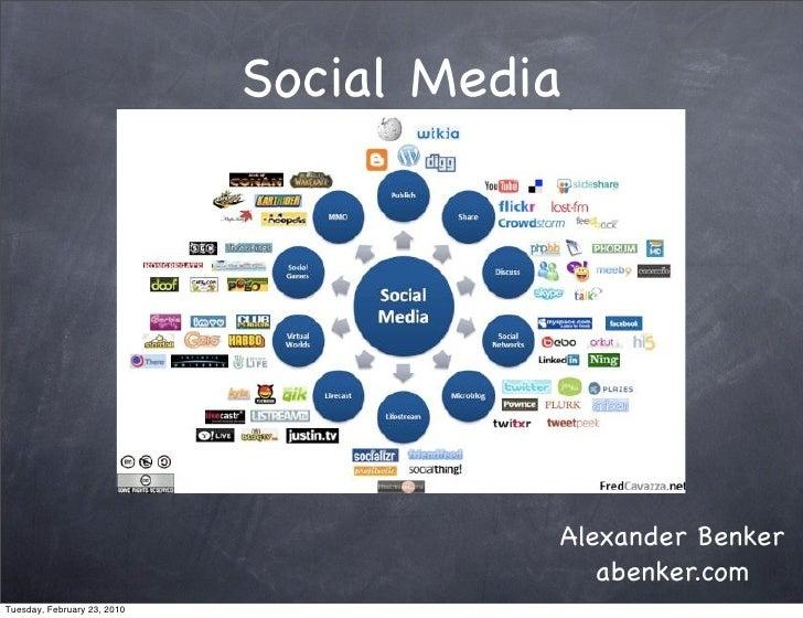 Social Media                                             Alexander Benker                                            abenk...