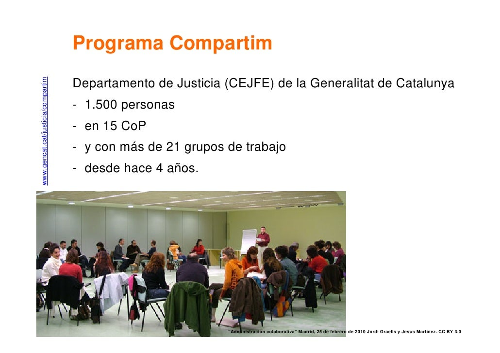 www.gencat.cat/justicia/compartim   Programa Compartim                                     Departamento de Justicia (CEJFE...