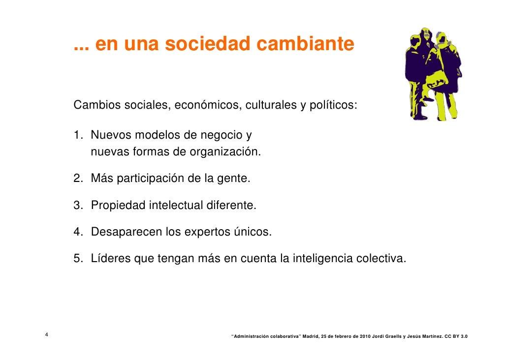 ... en una sociedad cambiante      Cambios sociales, económicos, culturales y políticos:      1. Nuevos modelos de negocio...