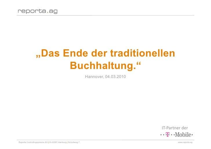 """""""Das Ende der traditionellen                        Buchhaltung.""""                                                         ..."""