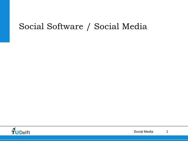 Social Software / Social Media