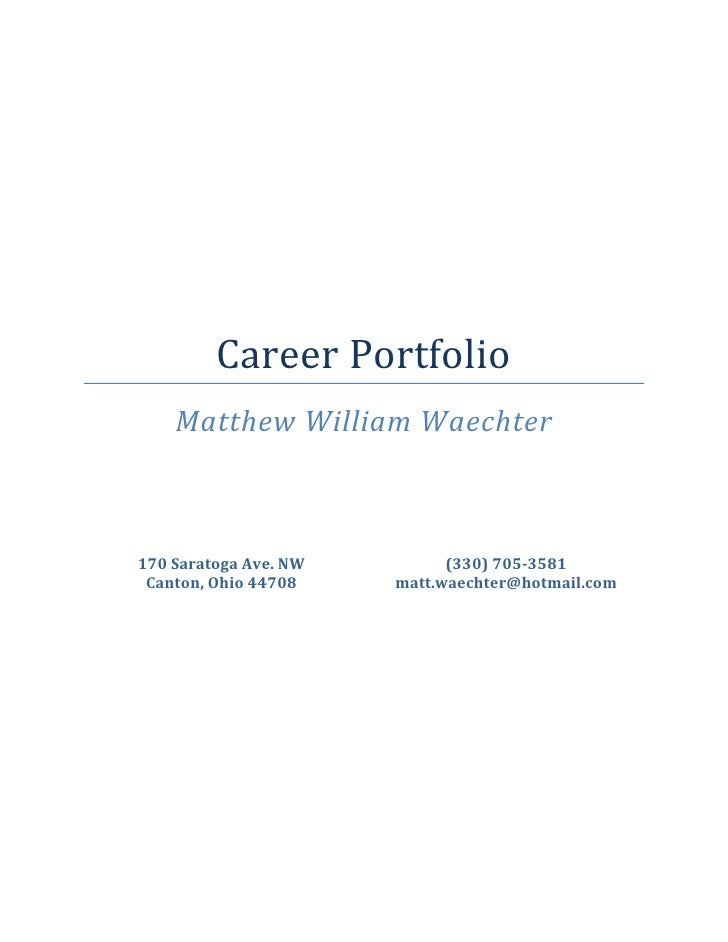 career portfolio matthew william waechter