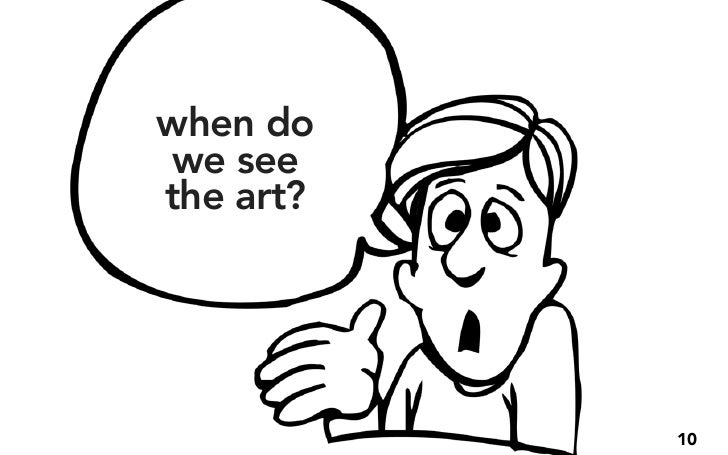 when do we see the art?                10
