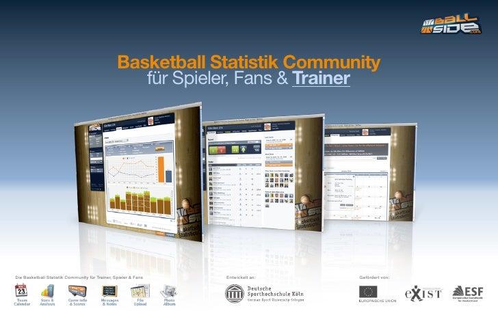 Basketball Statistik Community                                                     für Spieler, Fans & Trainer     Die Bas...