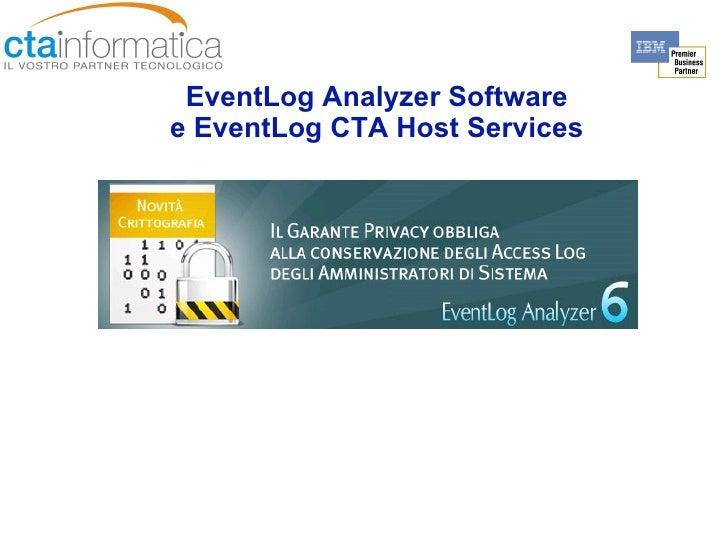EventLog Analyzer Software e EventLog CTA Host Service