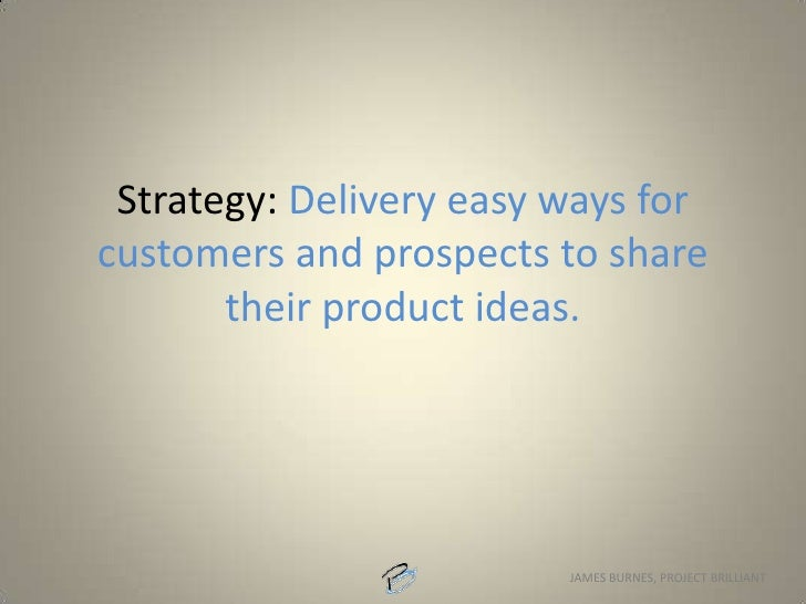 Strategy: Make our organization more personable and less corporate.<br />
