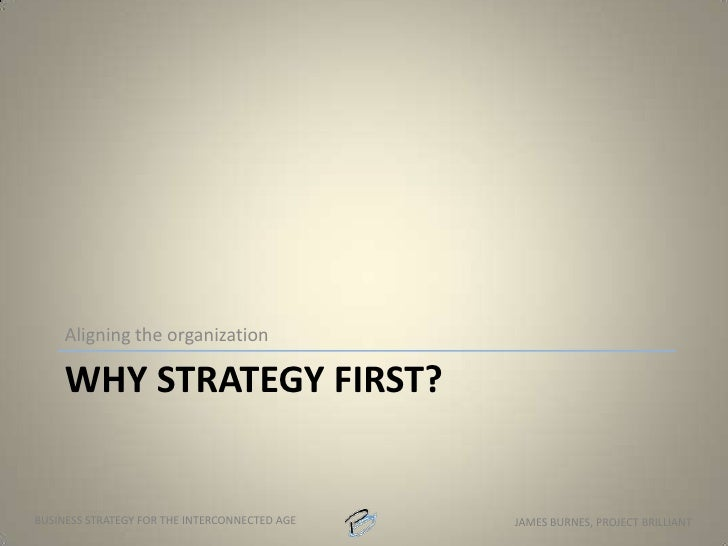 Do you have a strategy?<br />