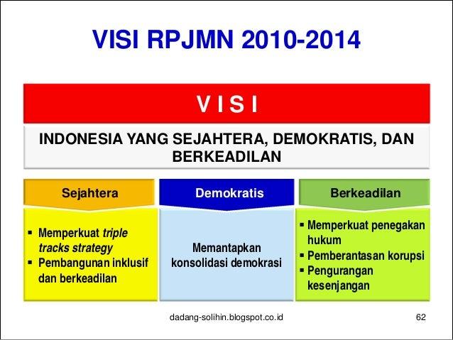1 Reformasi Birokrasi dan Tata Kelola 2 Pendidikan 3 Kesehatan 4 Penanggulangan Kemiskinan 5 Ketahanan Pangan 6 Infrastruk...