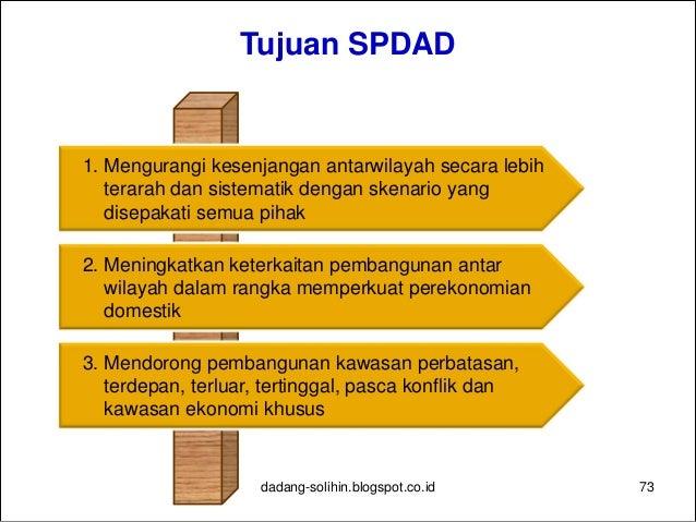 Agenda untuk Memperkuat SPDAD 74 Sinergi Pusat-daerah dan antardaerah dilakukan dalam seluruh proses mulai dari perencanaa...