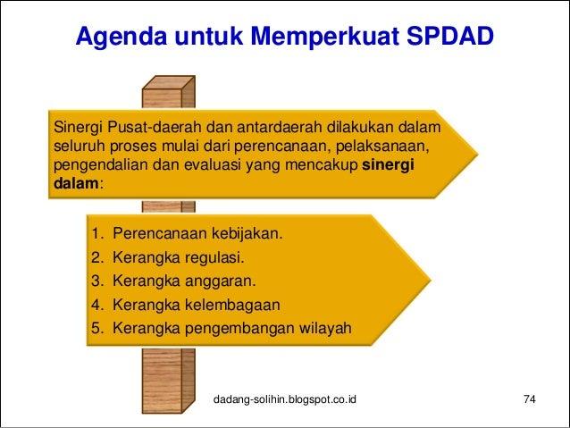 Strategi dan Arah Kebijakan Umum Pengembangan Wilayah 2010-2014 1. Mendorong pertumbuhan wilayah-wilayah potensial di luar...