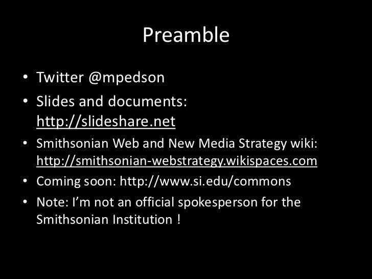 Michael Edson @ UGame ULearn: The Smithsonian Commons Prototype Slide 2