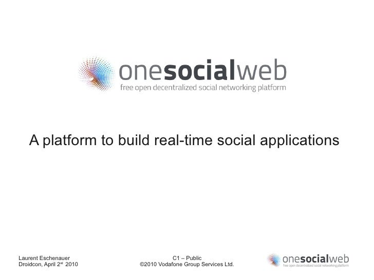 A platform to build real-time social applications     Laurent Eschenauer                    C1 – Public Droidcon, April 2n...