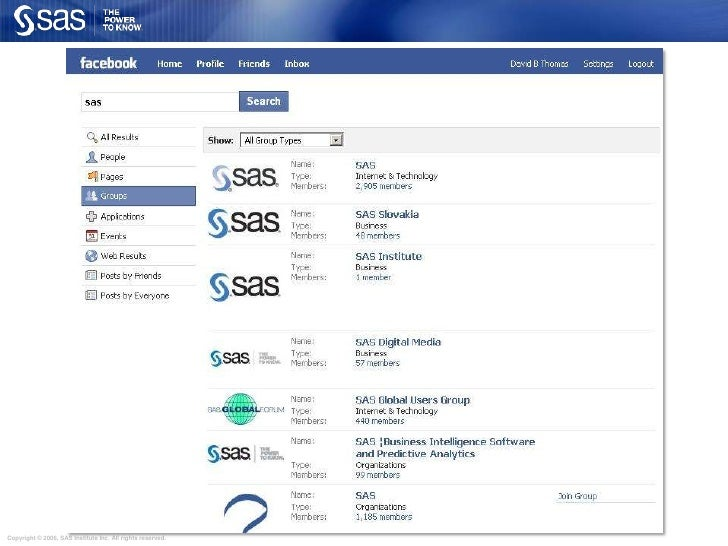 SAS fans are active in a variety of places online<br />