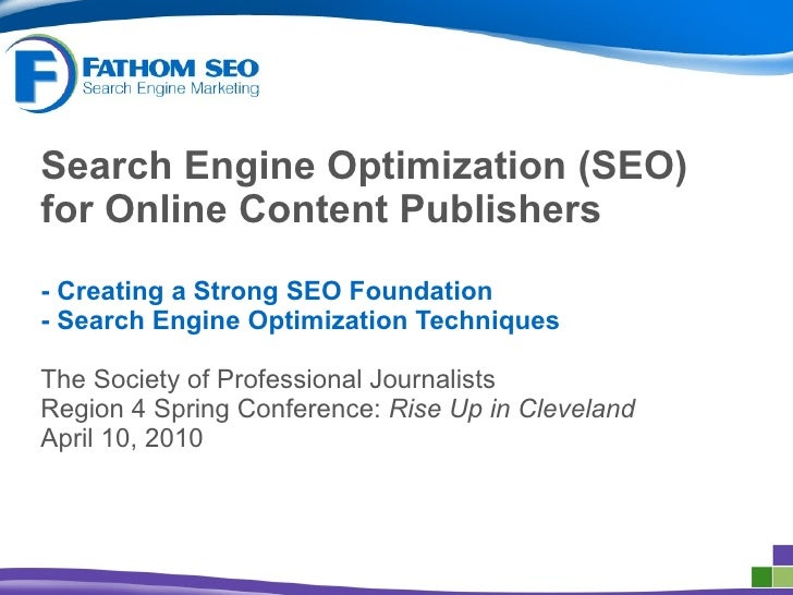 Search Engine Optimization (SEO) for Online Content Publishers -   Creating a Strong SEO Foundation - Search Engine Optimi...