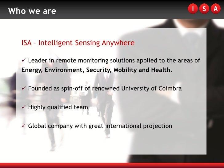 ISA - Intelligent Sensing Anywhere Slide 2