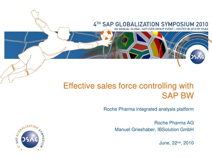 Effective sales force controlling with                             SAP BW            Roche Pharma integrated analysis plat...