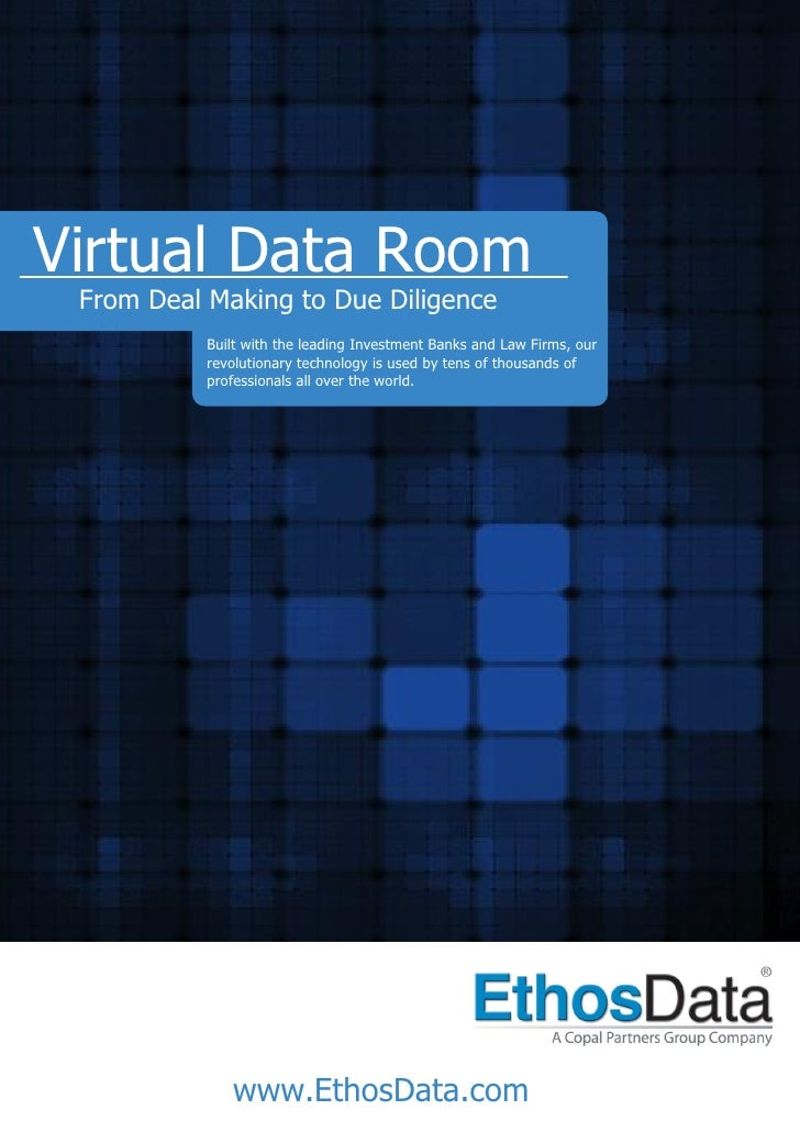 Virtual Data Room From Deal Making to Due Diligence           Built with the leading Investment Banks and Law Firms, our  ...