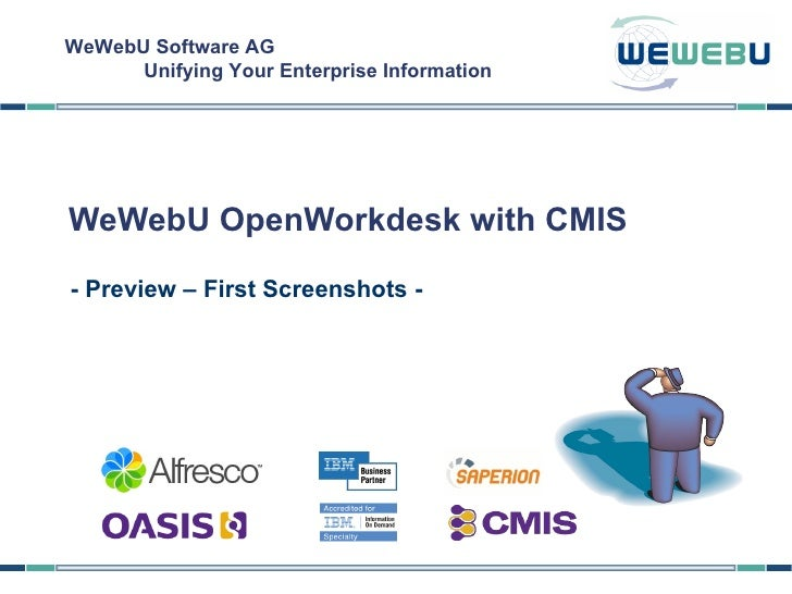 - Preview – First Screenshots - WeWebU OpenWorkdesk with CMIS